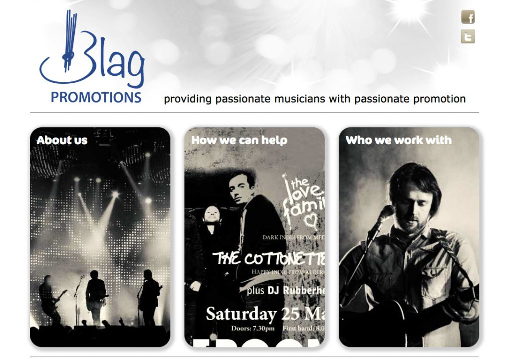 Blag Promotions website